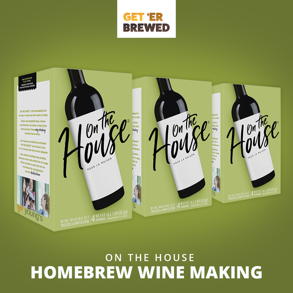 Geterbrewed On The House wine making kits