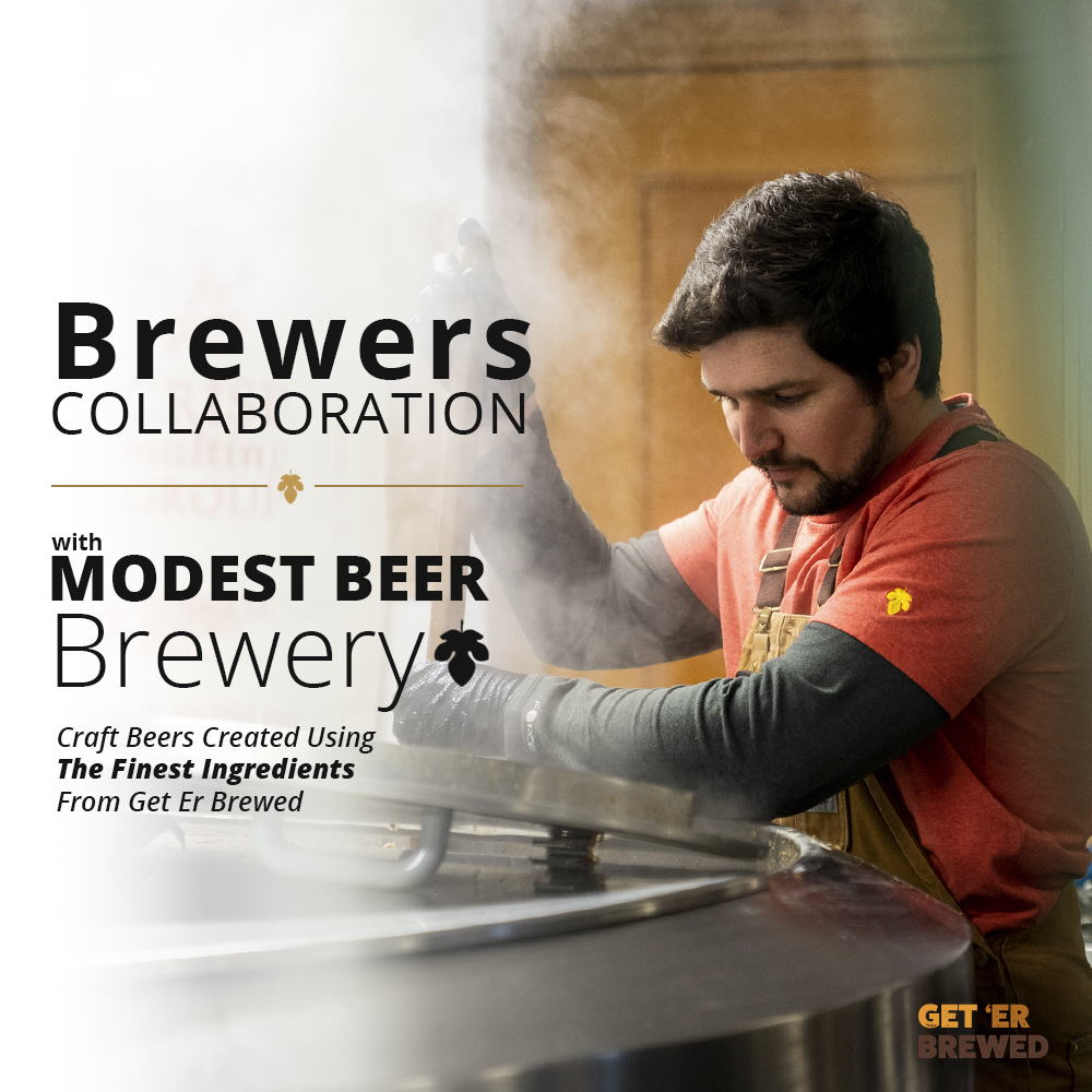 Geterbrewed Collaboration brew with Modest Beer