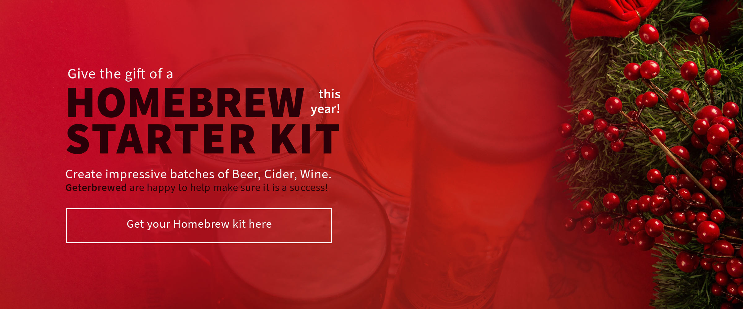 HomeBrew Starter Kit for Christmas