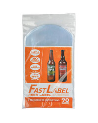 Fast Label beer label sleeves - 330ml- 70 pieces