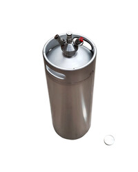 Stainless Steel Mini Keg Dispensing Lid With ball Lock Fittings